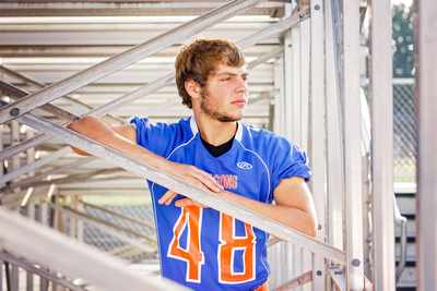 Male Boy Football Player Senior Photo